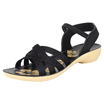 11ac6f6fd Earton Women Black-983 Fashion Sandals  Buy Online at Low Prices in ...