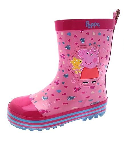 Lora Dora Peppa Pig Girls Kids Rubber Wellington Boots Size UK 9