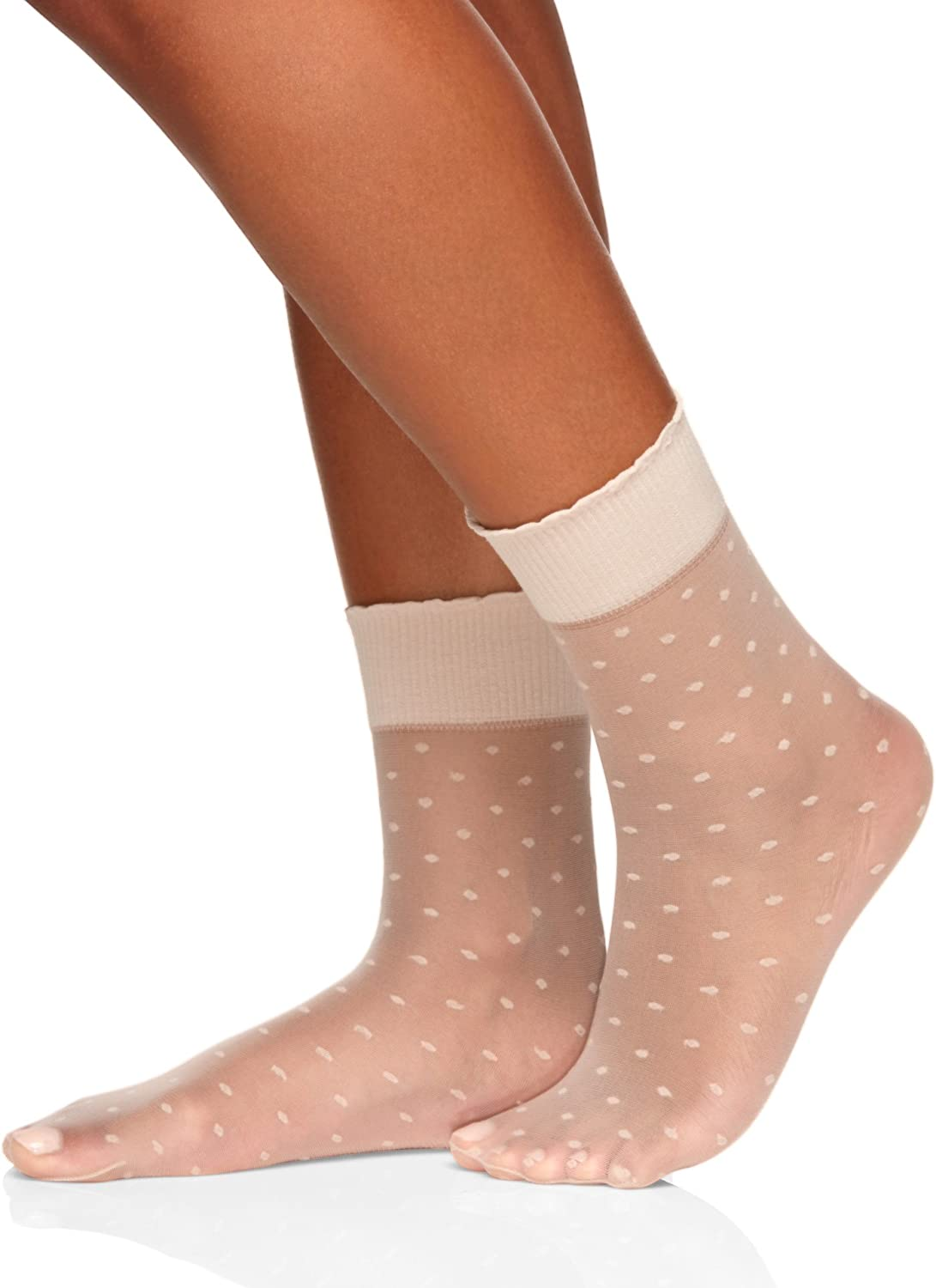 Berkshire Plus Size Dot Anklet With Scalloped Top