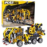 BIRANCO. Crane Truck Building Kit - Educational Learning STEM Building Blocks Toys Gifts for 8, 10, 12 yr Old Kids, Engineeri