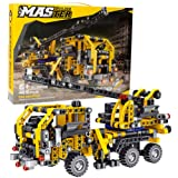 BIRANCO. Crane Truck Building Kit - Educational Learning STEM Building Blocks Toys Gifts for 8, 10, 12 yr Old Kids…