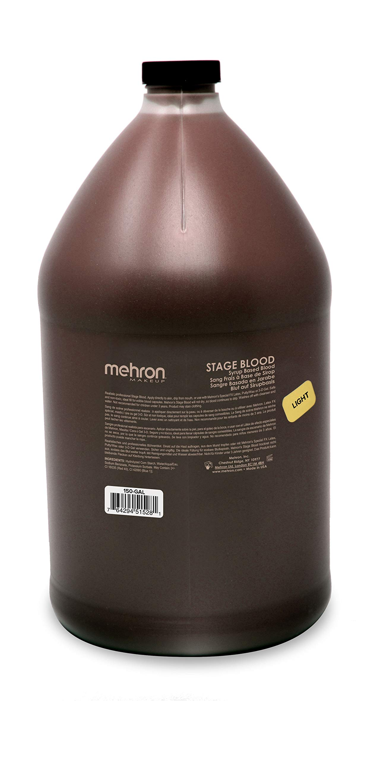 Mehron Makeup Stage Blood (Gallon) (Bright Arterial)