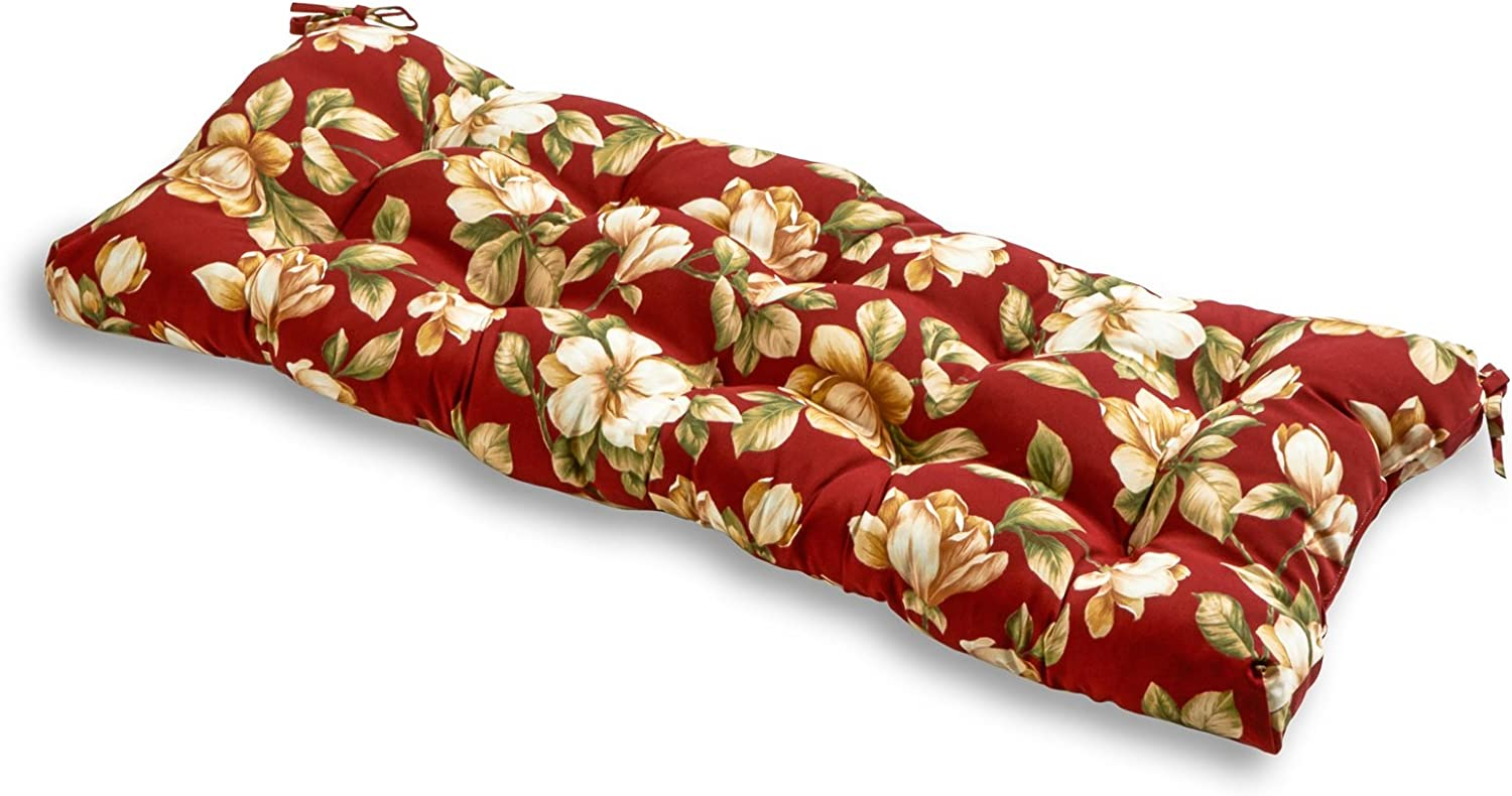 Greendale Home Fashions Indoor Outdoor Bench Cushion, Roma Floral, 51-Inch