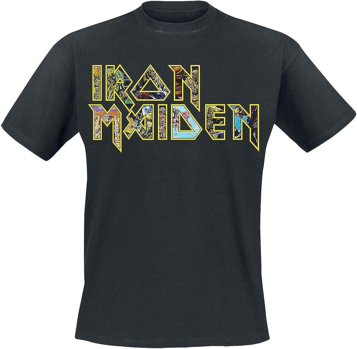 Iron Maiden Eddies Logo Camiseta Negro