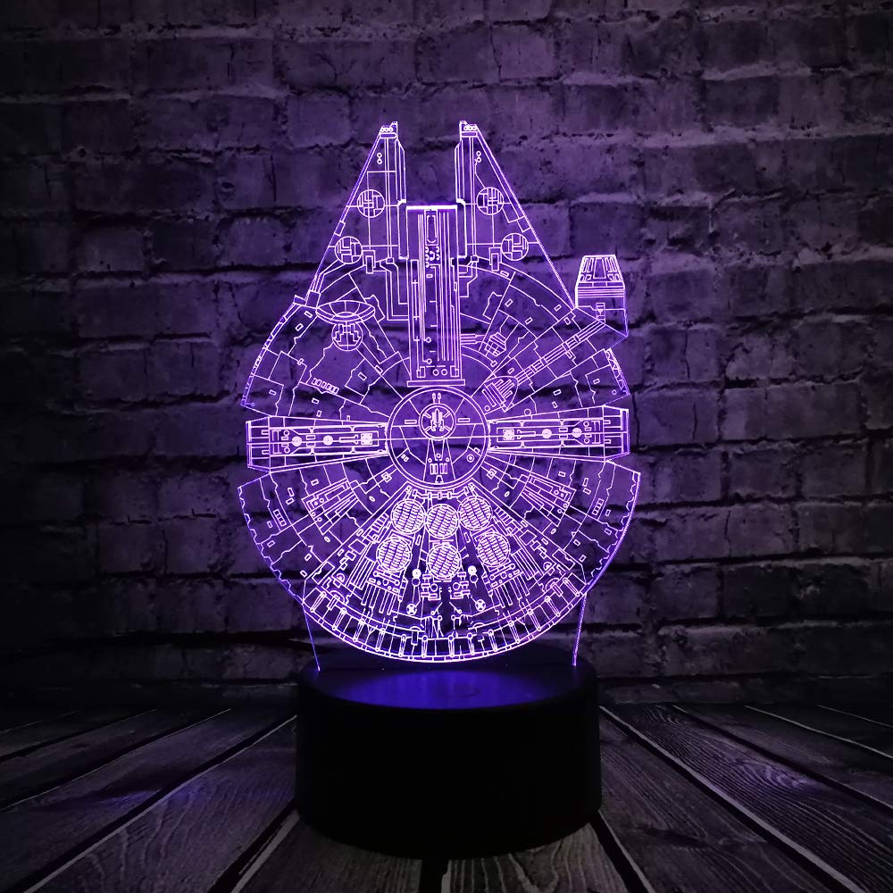 KangYD Planet Ufo 3D LED Night Light, Lámpara cálida, Decoración ...