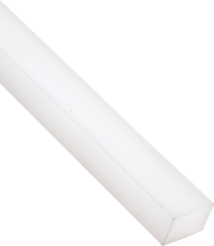 5 Length UHMW Ultra High Molecular Weight Polyethylene 1//4 Thickness Rectangular Bar 1-1//2 Width Standard Tolerance Opaque White