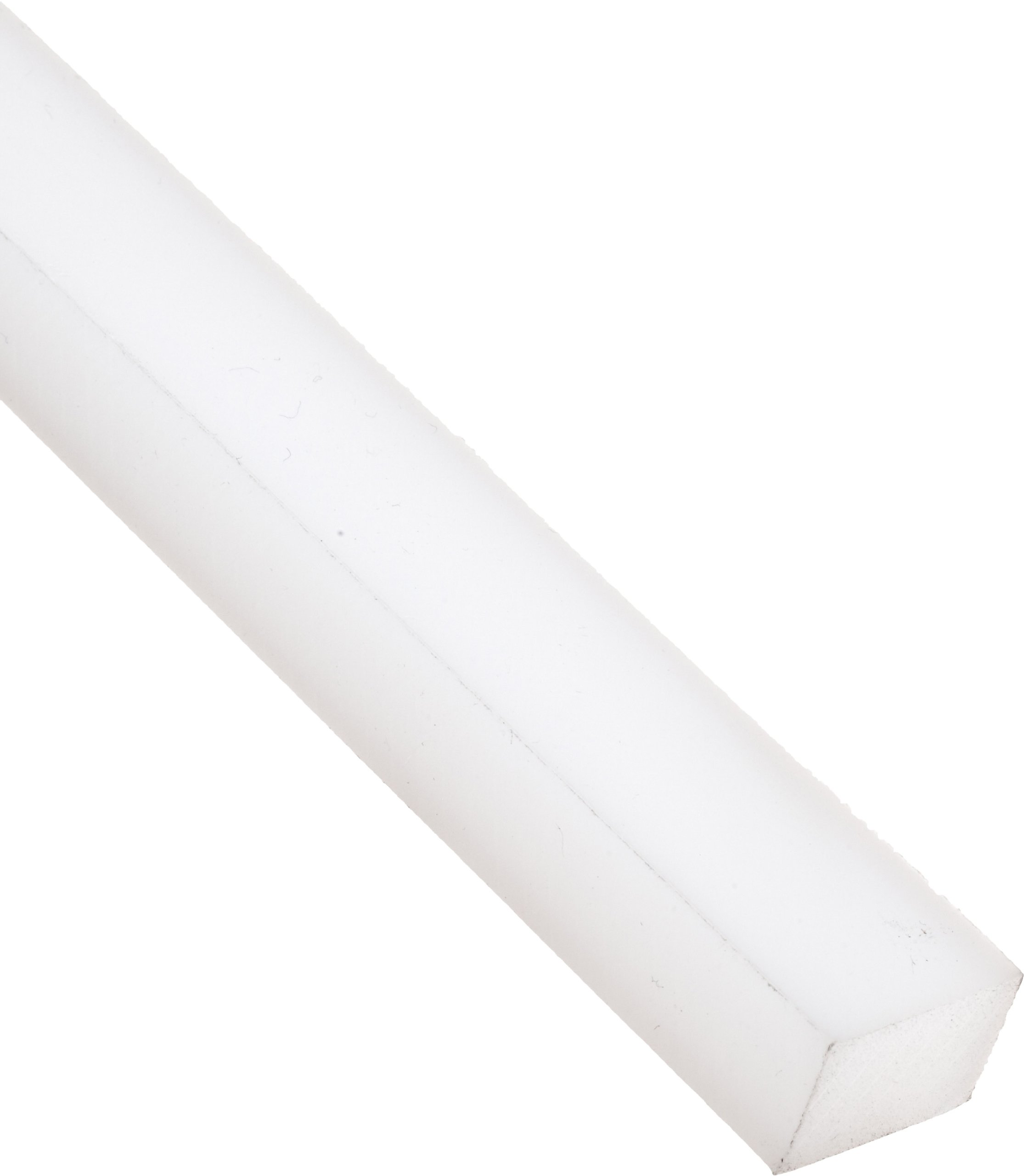 UHMW (Ultra High Molecular Weight Polyethylene) Rectangular Bar, Opaque White, Standard Tolerance, 3'' Thickness, 4'' Width, 5' Length