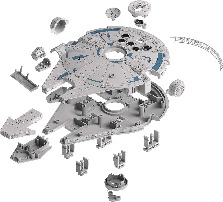 Revell Build&Play 01017 - Adventskalender Millennium Falcon, Star Wars, Disney SOLO - 24 Tage cooler Bastelspaß, der Bausatz mit dem Stecksystem...