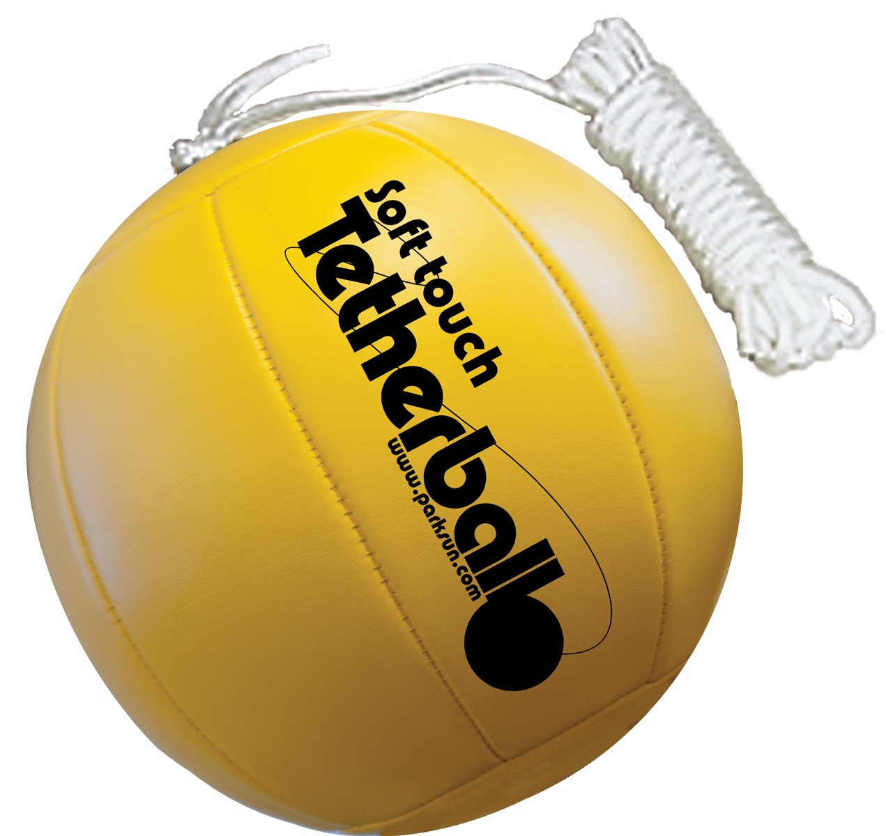 Park & Sun Sports Soft Touch Tetherball with 7' Nylon Cord and Clip, Classic Yellow by Park & Sun Sports (Image #1)