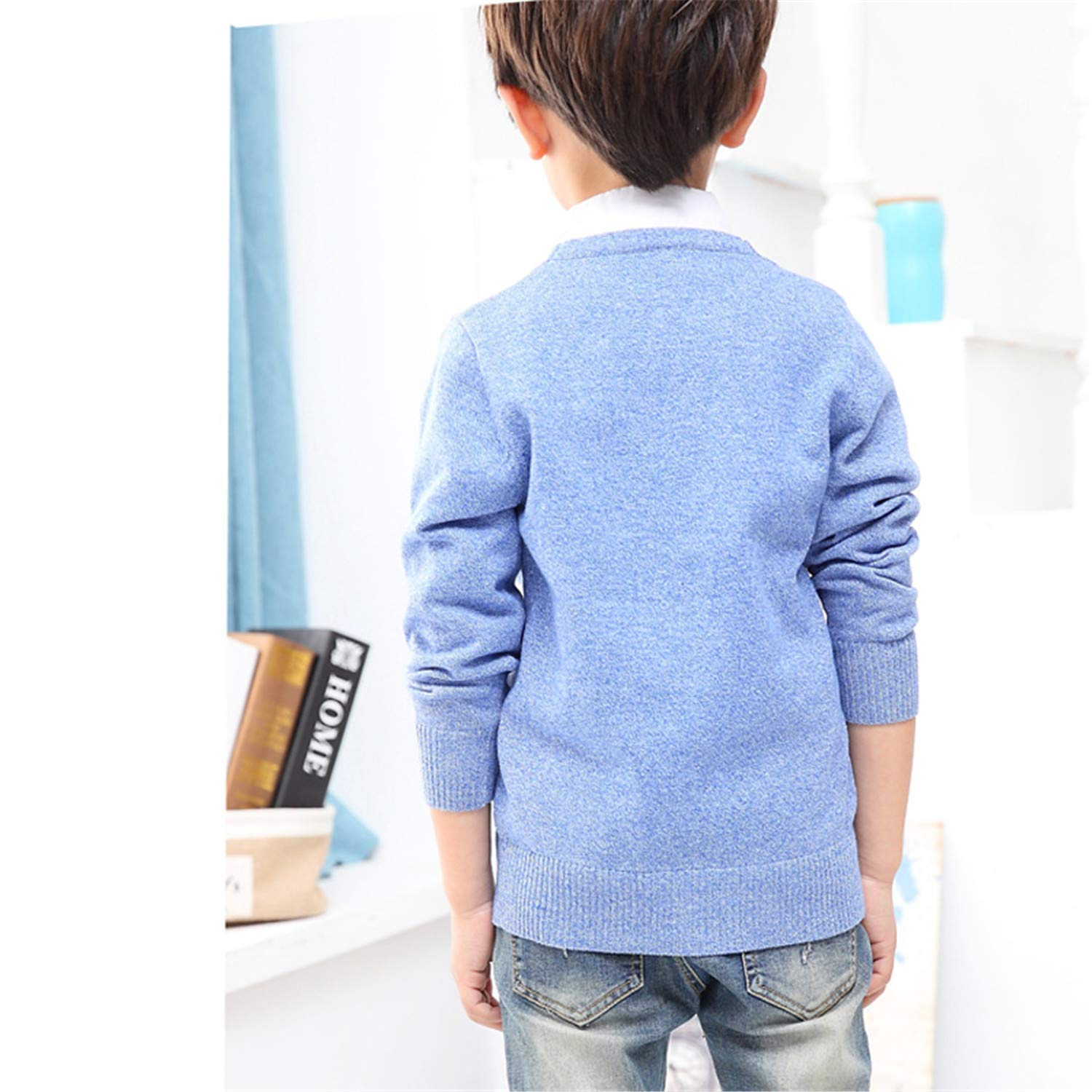 Paddy Meredith Autumn Boys Cardigan Baby Clothes Boy Cotton Solid Long Sleeve Sweaters Kids Causal Knitted Tops
