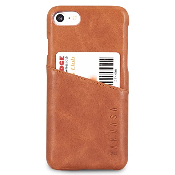 info for 0458d 00729 KANVASA iPhone 8 Leather Case/iPhone 7 Leather Case Brown Cards Premium  Genuine Leather Wallet Back Cover for The Original iPhone 8 & 7 (4.7 inch)  - ...