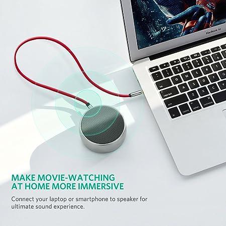 UGREEN Cable 3.5mm Plano Delgado Auxiliar Audio Estéreo con Conector ángulo Recto para iPhone6,5S,5, iPad, Smartphones, Tablets y Reproductores Multimedia, ...