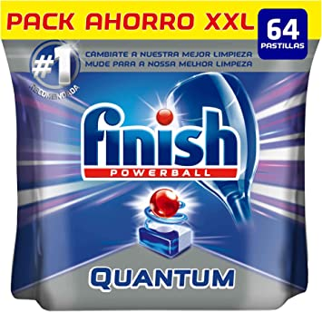 Finish Quantum Regular Pastillas Lavavajillas - 64 pastillas ...