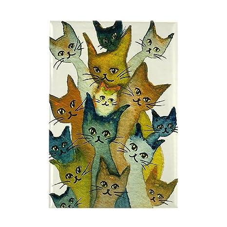 Cierre magnético CafePress Kalamazoo gatos callejeros imán rectangular - estándar Multi-color