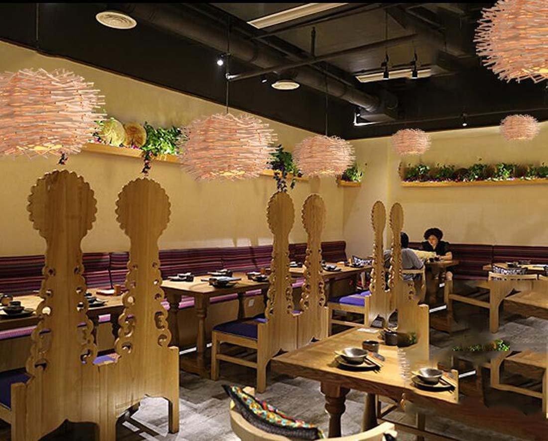 Lustre créatif en bambou lustre chaleureux allée ronde ...