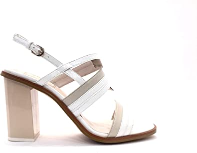Scarpe Sposa Beige.Sandalo Stairway Bianco Beige Sandali Cerimonia Donna Tacco Alto