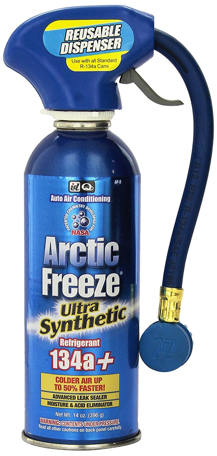Interdynamics (AF-2) Arctic Freeze R-134a Ultra Synthetic Refrigerant with Reusable Dispenser - 14 oz. (14 Ounce(Pack of 6)) by Interdynamics