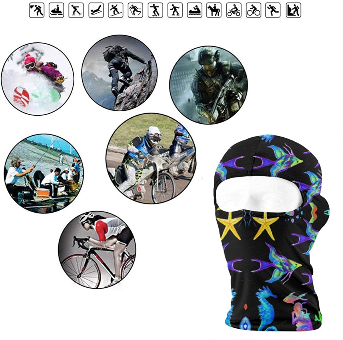 CAClifestyle Scuba Diver Under The Sea Unisex Windproof Balaclavas Full Face Mask Hood