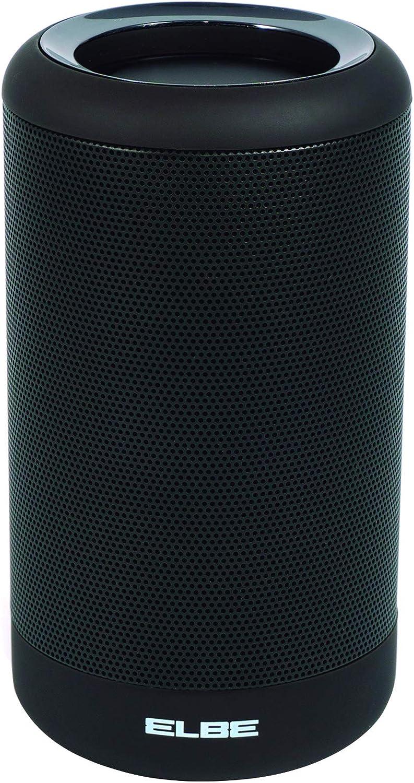 Elbe ALT-180-TWS - Altavoz portátil (Bluetooth, batería de Litio 1200 mah, 3.7 V, USB, 5 W) Negro