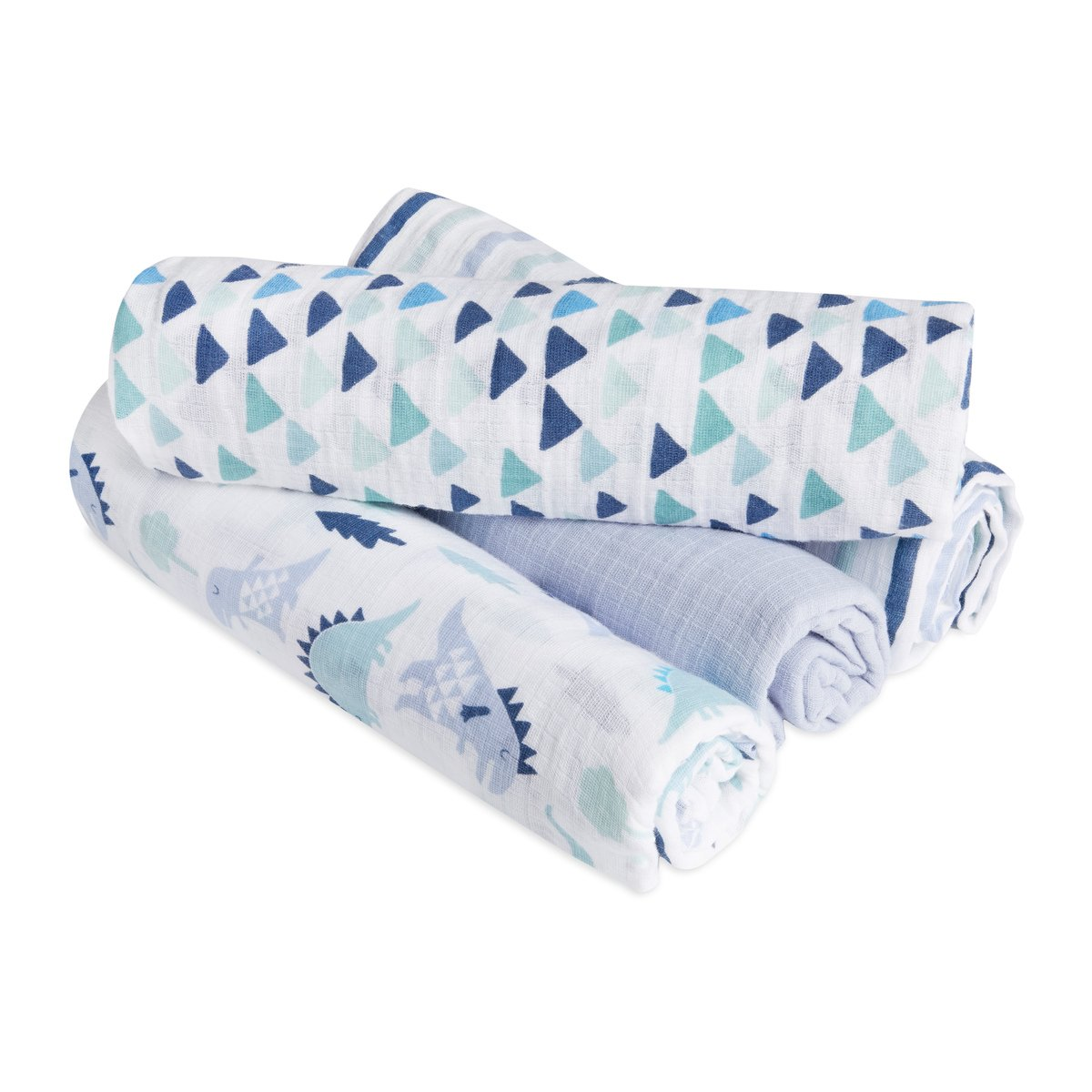 aden by aden + anais Swaddle Blanket | Muslin Blankets for Girls & Boys | Baby Receiving Swaddles | Ideal Newborn Gifts, Unisex Infant Shower Items, Toddler Gift, Wearable Swaddling Set, Dinos 4 by aden + anais
