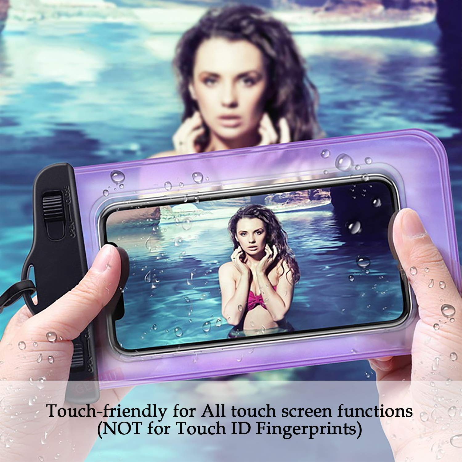 Universal Waterproof Case - Waterproof Phone Pouch - Cellphone Dry Bag for iPhone X/8/ 8plus/7/7plus/6s/6/6s Plus Samsung Galaxy s8/s7 Google Pixel 2 HTC LG Sony up to 6.5\