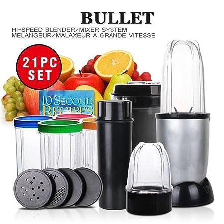 B-Black ® Licuadora Bullet Robot 21 piezas con centrifugadora ...