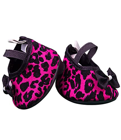 49acd0e452e5 Image Unavailable. Image not available for. Color: Hot Pink Leopard Print  High Heels Teddy Bear Clothes ...