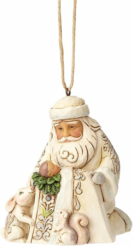 Enesco-Gift 4058743 Whitewood Santa/Baby Jesus Ornament, Multicolor