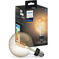 Philips Hue Bombilla inteligente LED E27 (9.5 x 14.2, 7 W, forma globo, Bluetooth,…