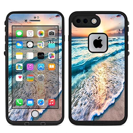 Amazon com skin decal vinyl wrap for lifeproof iphone 7 plus fre case stickers skins cover sunset on beach cell phones accessories