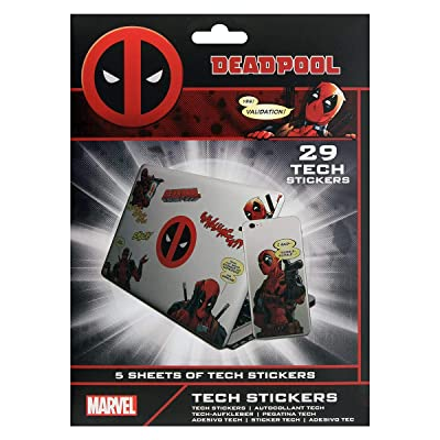 Marvel TS7408 29 Stickers Deadpool, Multi-Colour: Toys & Games