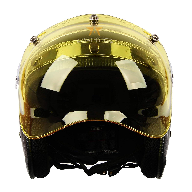 para casco jet con base plegable Amathings/ /Visera completa Bubble con degradado en distintos colores