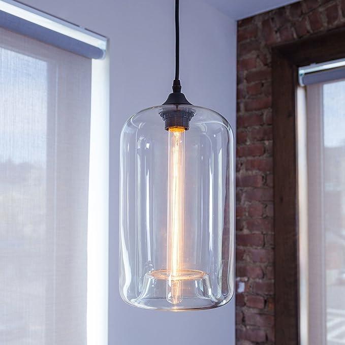 Amazon.com: Windsor alturas clara vidrio único colgante de ...