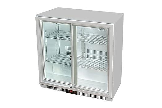 Minibar Kühlschrank Xxl : Glastür kühlschrank 90 x 90 x 52 cm silber getränkekühlschrank mit