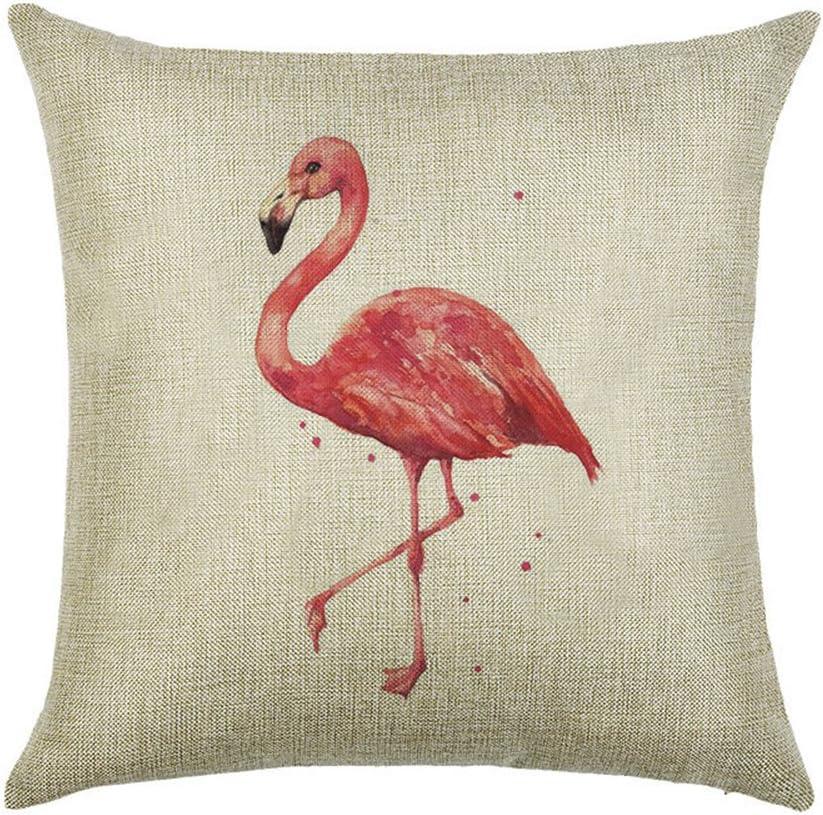 hengjiang Pink Bird Flamingos Kissen Bez/üge bequem doppelseitig Kissen Bezug Super Weiche Kissenbezug f/ür Sofa Bett dekorative Kissen 45/x 45/cm 01