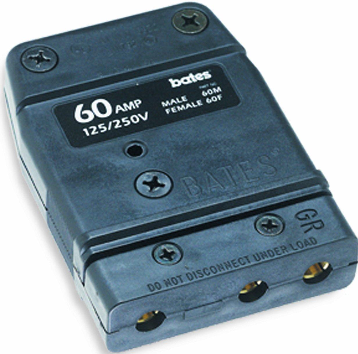 Marinco 60F Bates Stage Pin 60 Amp, 125 Volt, Female Inline