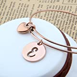 Zuo Bao Rose Gold Initial Disc Expandable Wire
