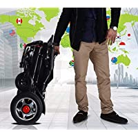Fold and Go Travel Lightweight Motorized Electric Power Wheelchair Scooter, Aviation Travel Safe Electric Wheelchair Foldable Heavy Duty Power Wheel Chair (BLACK)