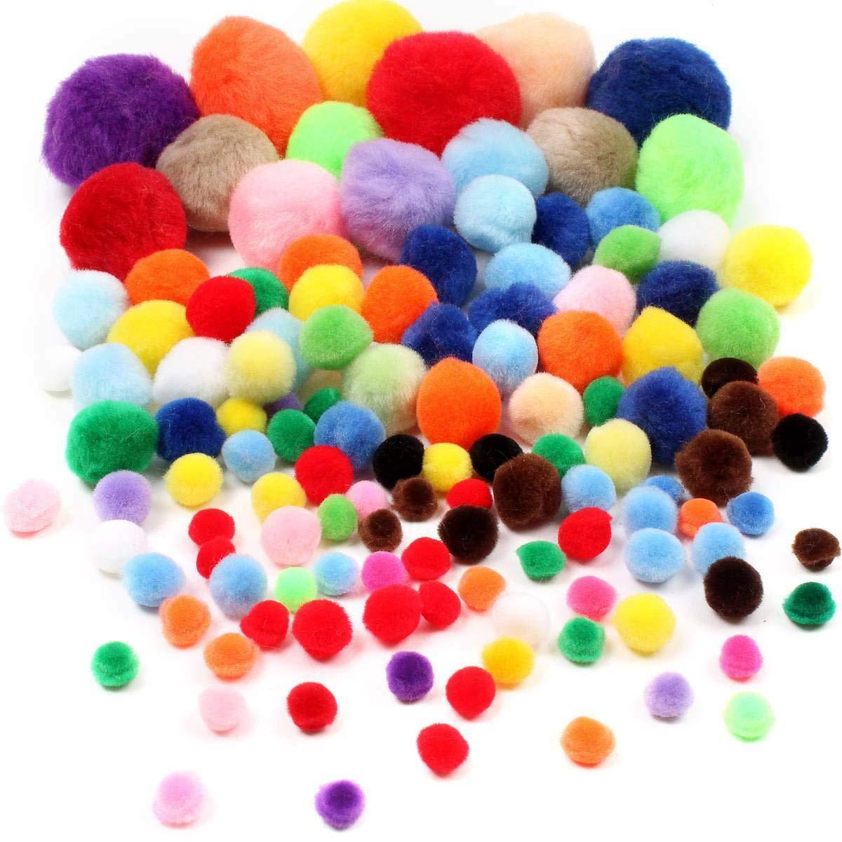 1 Pound Multi Colored Assorted Craft Pom Poms Bulk 1500 Pieces