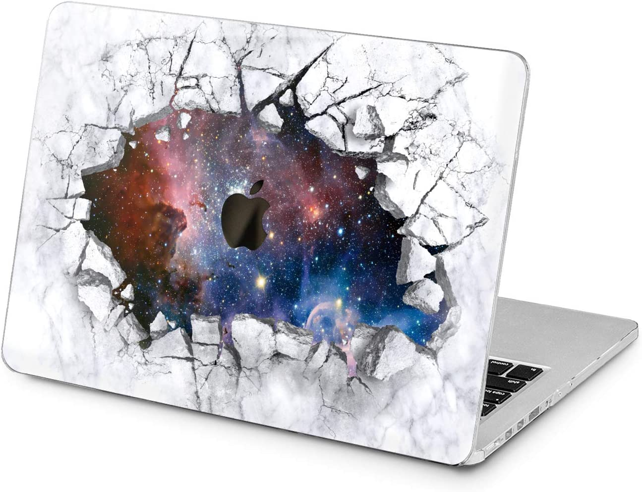 "Cavka Hard Shell Case for Apple MacBook Pro 13"" 2019 15"" 2018 Air 13"" 2020 Retina 2015 Mac 11"" Mac 12"" Broken Design Laptop Protective Galaxy Nice Print Marble Plastic Cover Cracked Space Blue Stars"