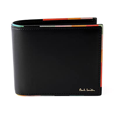 buy popular bcba6 bc6ea [名入れ可] (ポールスミス) Paul Smith ストライプポイント レザー ウォレット 本革 二つ折り 財布 873181P514  ショップバッグ付