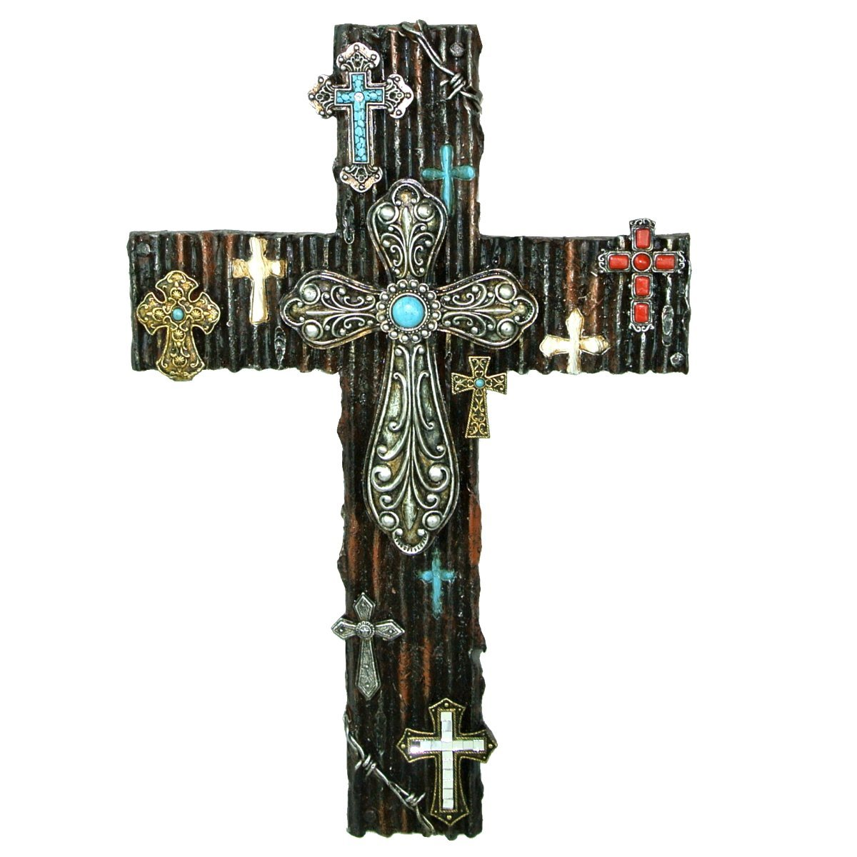 LL Home 12872 Multi Cross Decor