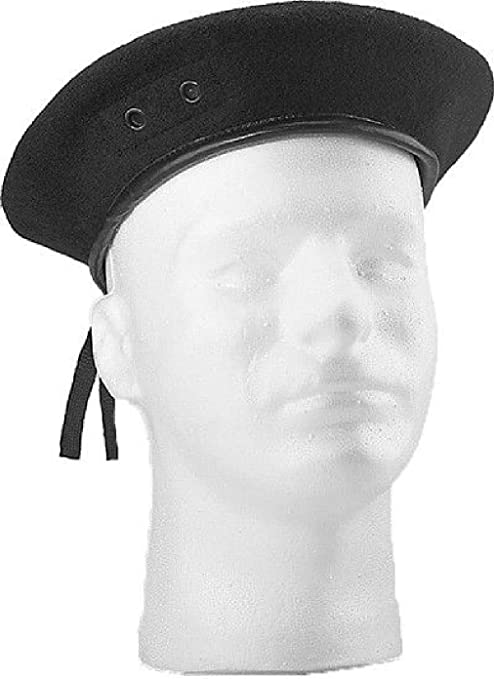 056c3583e4dc7 Amazon.com: Classic Wool Military Beret with Eyelets Army Hat: Sports &  Outdoors