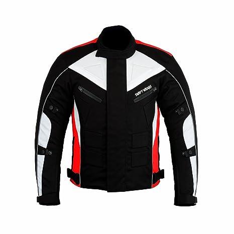 Swiftwears Chaqueta impermeable para hombre de moto textil Cordura CE aprobado