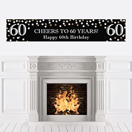 Amazon.com: Adulto 60 cumpleaños – oro – decoraciones de ...