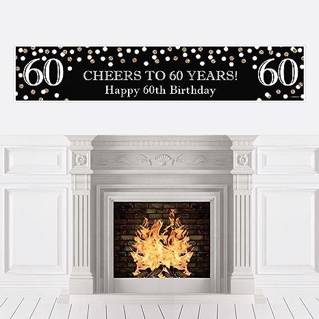 Amazon.com: Adulto 60 cumpleaños – oro – decoraciones de ...