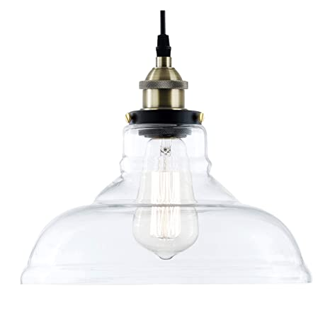 Light Society Classon Edison Pendant Light Clear Glass Shade With
