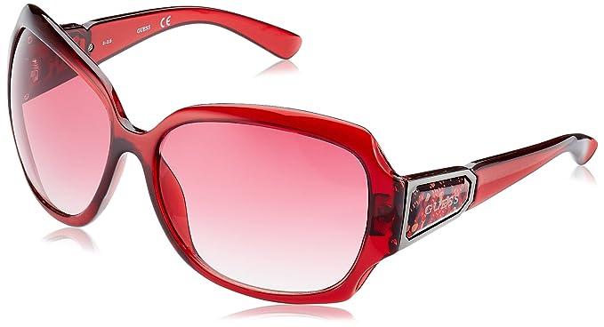 GUESS GU0217F_F37, Gafas de Sol para Mujer, Rojo (Bordeaux), 62: Amazon.es: Ropa y accesorios