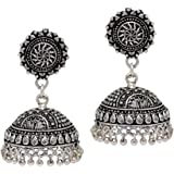 Jaipur Mart Jhumki Earrings for Women (Silver)(GSE539SLV)