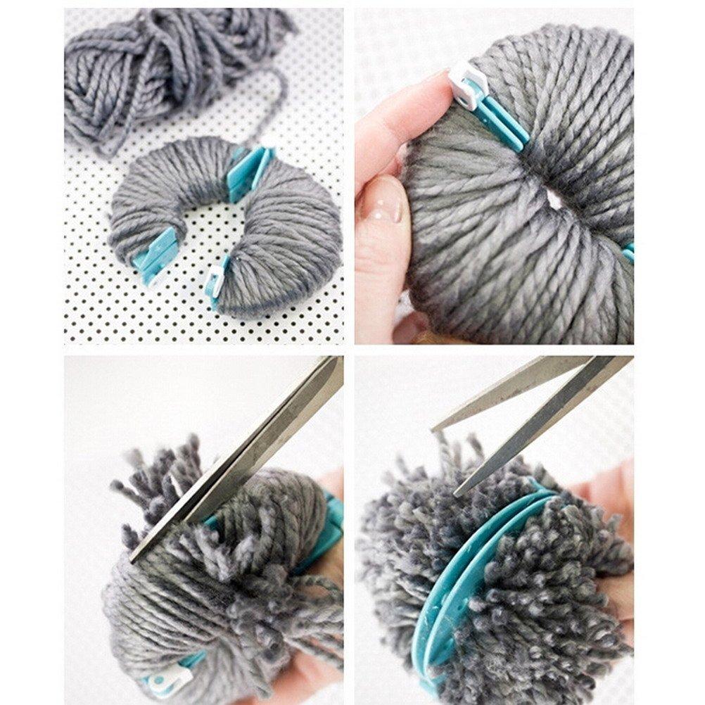 4/tailles Pompon Pompon Maker pour Fluff Boule Weaver Aiguille Craft DIY Laine /à tricoter Craft Outil de d/écoration